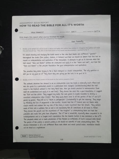 Seite 1 für einen Bookreport