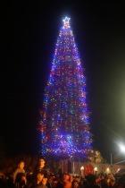 Weihnachtsbaum lightning in Redding