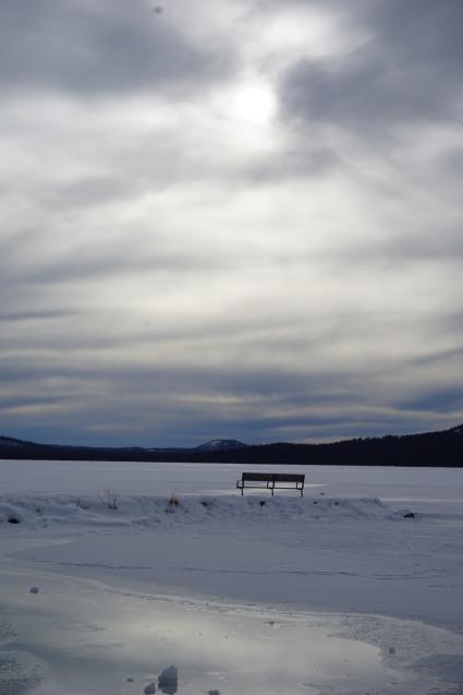 Diamand Lake komplett zugefroren